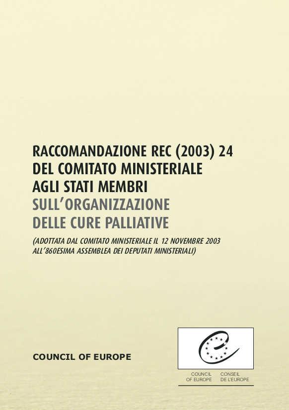 Rec (2003) 24 agli Stati membri sull