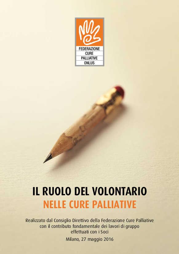 Ruolo del volontario nelle cure palliative